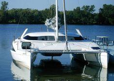 Beautiful multihulls - Page 6 Sailing Catamaran, Yacht Boat, Yacht Design, Boat Design, Marine Archaeology, Small Sailboats, Boat Projects, Love Boat, Architecture Visualization