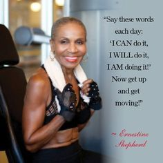 Bodybuilding Ernestine Shepherd-World's Oldest Competitive Female Body Builder celebrated her… - Witness one of the world's oldest bodybuilders, Ernestine Shepherd, in action — and get pumped to make a change. Bodybuilding Training, Fitness Bodybuilding, Female Bodybuilding, Cardio Yoga, Fitness Motivation, Weight Loss Motivation, Body Builder, Body Building Tips, Belly Dancing Classes