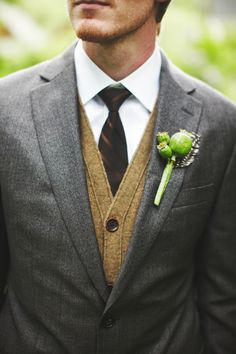 Nice... I really like the idea of the guys wearing sweater vests instead of 'regular' vests. Very classy and great for your winter wedding.