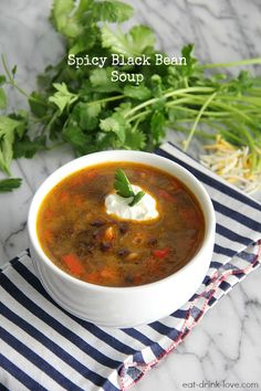Spicy Black Bean Soup from @Stephanie {Eat. Drink. Love.}