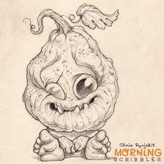 Two more days!  #morningscribbles #halloween | 출처: CHRIS RYNIAK