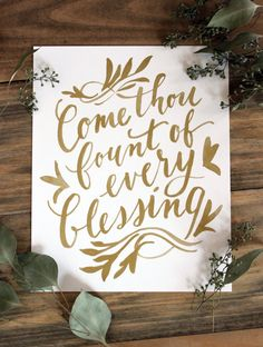 Come Thou Fount of Every Blessing Art Print by YouDollDesign