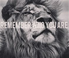 You have forgotten who you are and so have forgotten me. Look inside yourself Simba. You are more than what you have become. You must take your place in the Circle of life. Remember who you are. You are my son and the one true king. Remember who you are. #LionKing
