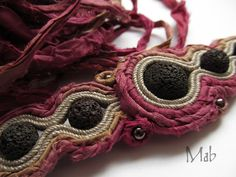 Mab Magdalena Bielska: 09/15/15 Jewlery, Crochet Earrings, Sari, Stone, Fashion, Jewelry, Saree, Moda, Rock