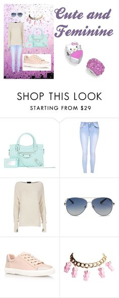 """""""Cute and feminine"""" by ymargaret216 on Polyvore featuring Balenciaga, Glamorous, Exclusive for Intermix, Valentino, Carvela Kurt Geiger and Hello Kitty"""