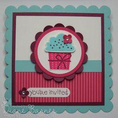 cupcake invitation  - colour me happy