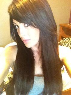 Long hair w side bangs!