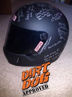 Using a racing helmet as a guest book at the wedding! AWESOME IDEA…
