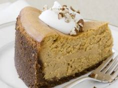 The Ultimate Pumpkin Cheesecake : Food Network Magazine couldn't get the secret recipe for the Cheesecake Factory's famous slice, so they made their own creamy, decadent version. We can't tell the difference!