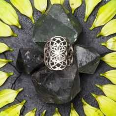 Creation Ring  #creation #sacredgeometry #accessories  http://saraswatimoon.myshopify.com/collections/rings/products/creation-silver-ring