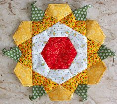 my latest rose star paper pieced quilt block
