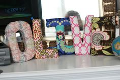 Tutorial: Anthropologie Inspired Fabric Letters