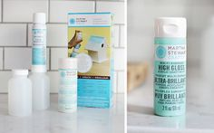 CRAFT PAINT THAT MAGICALLY TURNS TO SPRAY PAINT.   Martha's Gloss Spray Paint Kit, beach glass..