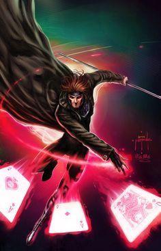 Gambit - by Jason Metcalf and Ula Mos by *JasonMetcalf #Comics #Illustration #Drawing