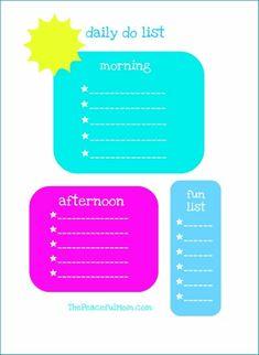Kids Daily Planner Checklist {Printable} www.247moms.com #247moms