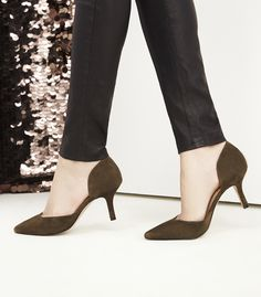 Olive suede d'Orsay pumps | Sole Society Reymina
