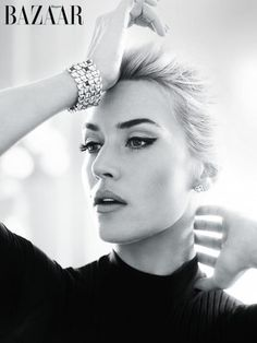 Kate Winslet. Adore her look here.