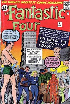 Fantastic Four #9 (Dec '62) cover by Jack Kirby & Dick Ayers