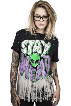 STAY WEIRD CUSTOM TIE DYE TEE