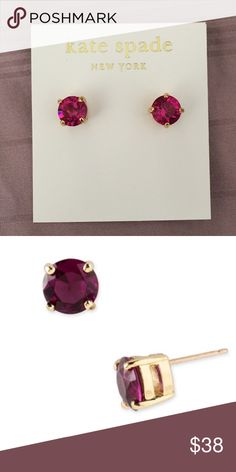 Kate Spade Pink Stud Earrings 14k gold fill Kate Spade studs in a deep rose color. Brand new in package. 🍍All BNWT (not retail) items are sent with the CRL (customer return label) removed from tag🍍   Don't forget to shop my closet for a bundle discount! kate spade Jewelry Earrings