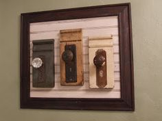 Repurposed door knobs.   Visit us at www.millenniumwasteinc.com to learn more about the services we offer!