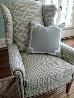 Ballard Designs Catalog House is part of Reapolstering chairs - Charming House Tour! Chair Upholstery, Chair Fabric, Upholstered Chairs, Ikea Chairs, My Living Room, Living Room Chairs, Dining Chairs, Furniture Styles, Sofa Furniture