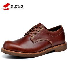 127.91$  Buy here - http://alivdd.worldwells.pw/go.php?t=32791066633 - Z. Suo Menshoes, New Spring And Autumn Casual Leather Mens Shoes Solid Color Europe Retro Shoes Men Zapatos  Bots. Zs16702