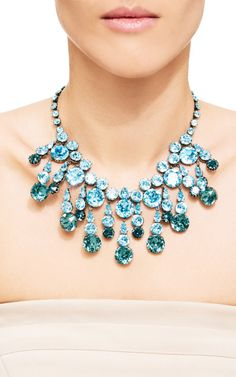 1940'S French Oval Brilliant Stone Collar Necklace by Carole Tanenbaum for Preorder on Moda Operandi