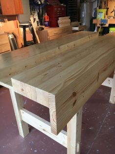 Workbench by Paul Bowes Folding Workbench, Workbench Plans, Craftsman Workbench, Wood Shop Projects, Woodworking Projects, Dining Table, Furniture, Workbenches, Workshop Ideas