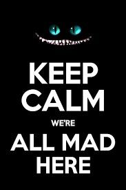 Keep Calm Alice in Wonderland We're All Mad Here Poster - Funny Poster. Keep Calm Wallpaper, Keep Clam, Keep Calm Quotes, Funny Posters, Were All Mad Here, Mail Art, Cute Wallpapers, Alice In Wonderland