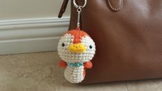 Keychain toy   Tweety the chipping sparrow crochet от WoofStudio