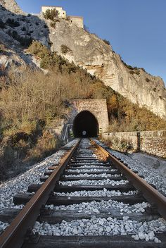 The light at the end of the tunnel is .......A Train.