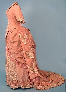 Pink Silk Reception Gown, 1878-1880 October 24, 2004 - Session 2 Lot 700 - $900.00
