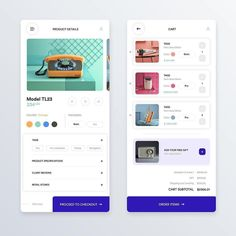 Product funnel for checkout of multiple products and overall structure of the product cards designed by Online Web Design, News Web Design, Web Ui Design, Email Design, Mobile Application Design, Mobile Web Design, Design Android, Conception D'applications, Ecommerce Website Design