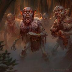 Zombie Goblin Horde, devin platts on ArtStation at https://www.artstation.com/artwork/Xd80R