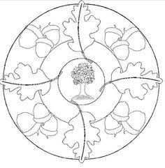 Oak & Acorn mandala