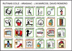 Informática para Educación Especial: Tablero de comunicación para AraBoard y tableros para imprimir sobre Rutinas de la vida diaria: Ir al cole.