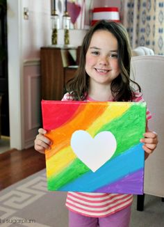 Hi Sugarplum | Easy Canvas Art Great kids activity and Father's Day gift!