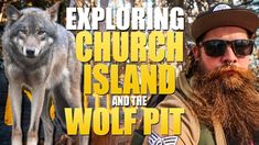Exploring an ancient wolf pit on Church Island!
