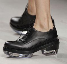 Lucite heel oxford #transparent #lucite #shoes