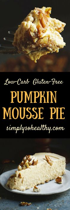 This Low-Carb Pumpkin Mousse Pie recipe creates a creamy, sophisticated twist on the classic dessert. This recipe can work for low-carb, ketogenic, lc/hf, diabetic, Atkins, gluten-free, grain-free, or Banting diets.
