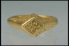 Gold Runic Finger Ring,Sweden , high medieval times Renaissance Jewelry, Edwardian Jewelry, Medieval Jewelry, Ancient Jewelry, Wiccan Jewelry, Cute Jewelry, Jewelry Art, Gold Jewelry, Jewelry Rings