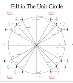Large Unit Circle | Trigonometry | Pinterest | Trigonometry and Math