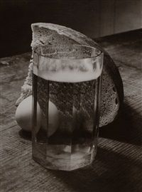 Bread, Egg and Glass by Josef Sudek