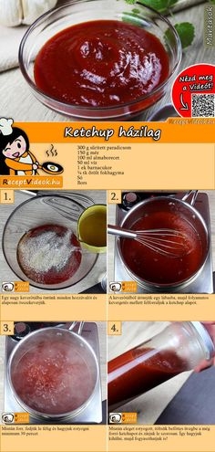 Ketchup, Recipies, Clean Eating, Good Food, Food And Drink, Tasty, Healthy Recipes, Cook, Snacks