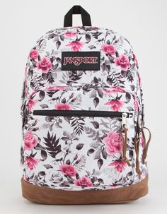 Jansport Right Pack Expressions backpack. Large zip main compartment with internal laptop sleeve that fits a laptop. Front utility zip pocket with organi… Mochila Jansport, Sac Jansport, Floral Backpack, Backpack Purse, Laptop Backpack, Laptop Bags, Cute Backpacks For School, Cool Backpacks, Cute Jansport Backpacks