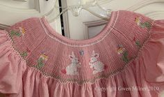 Smocking with Gwen: Emma's Easter Bunny Garden