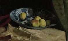 Stilleven met appels op een Delfts blauwe schaal, Willem de Zwart, 1880 - 1890