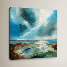 """Breakwater Bay Salthouse View I Painting Print on Wrapped Canvas Size: 36"""" H x 36"""" W x 2"""" D"""