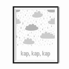 Plakat dla dzieci - Kap, kap, kap